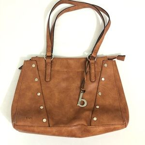 BOC Born Handbag Purse Gray Brown